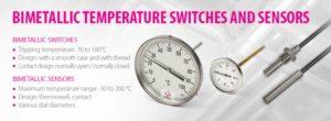 Биметаллические температурные переключатели и датчики Sensit
